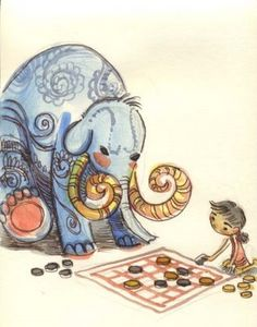 Love it!!    Ice-Cream Monster Toon Cafe: Elephant sketch