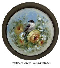 DVD1071 Flycatcher's Garden.  Paint It Simply.