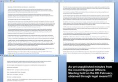 Facebook page 'Only Thugs & Nazis' publish what they claim is minutes from the recent #EDL Regional Organisers meeting.