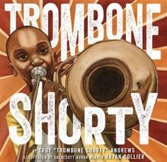 """Hailing from the Tremé neighborhood in New Orleans, Troy """"Trombone Shorty"""" Andrews got his nickname by wielding a trombone twice as long as he was high. A prodigy, he was leading his own band by age six, and today this Grammy-nominated artist headlines the legendary New Orleans Jazz Fest.  Along with esteemed illustrator Bryan Collier, Andrews has created a lively picture book autobiography about how he followed his dream of becoming a musician."""