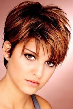 nice Short-hairstyles-for-fine-thin-hair-round-face-with-brown-hair | HQ Hairstyles Fashion Blogs