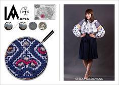 Romanian shirt hand-made by Stela Moldovanu for the Ia Aievea project. *** Camasa cusuta de Stela Moldovanu pentru proiectul Ia Aievea dupa un izvod de la Muzeul National al Taranului Roman. Roman