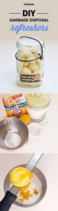 Kitchen cleaning products that are natural and chemical-free are a guide on how to clean your kitchen with homemade products that are good for environment. Garbage Disposal Refreshers, Cleaning Hacks, Cleaning Products, Housekeeping Tips, Natural Cleaners, Home Spa, Clean House, Diy Beauty, Diy Projects