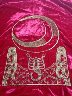 Zardozi embroidery on velvet