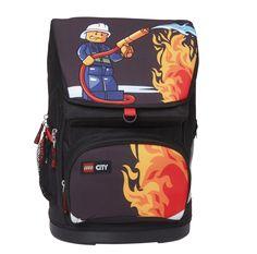 Mega fede Lego skoletaske 1-4 klasse, City Fire  Rygsække til børn til Rygsække til hverdag og til fest