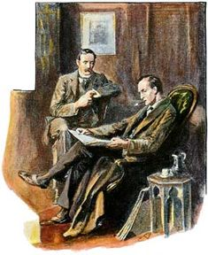 "Sherlock Holmes as depicted by Sidney Paget : ""My Collection of M's is a fine one,"" said he. // From: Sir Arthur Conan Doyle : ""The Empty House"", in RThe Strand Magazine, // The Return of Sherlock Holmes Original Sherlock Holmes, Jeremy Brett Sherlock Holmes, Sherlock Holmes Stories, Sherlock Bbc, The Final Problem, Famous Detectives, Dr Watson, Police Story, Arthur Conan Doyle"