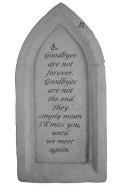 Amazon.com - Reflections - Goodbyes Are Not - Memorial Garden Stone