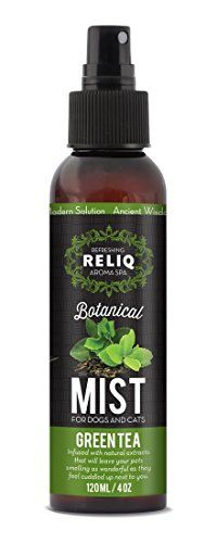 Dog Colognes - RELIQ Aroma SPA Green Tea Botanical Mist for dogs and cats -- Check out this great product. (This is an Amazon affiliate link)