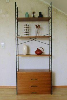 STRING REGAL SYSTEM Stringregal mit Schränkchen Danish Design 60er-70er Jahre | eBay