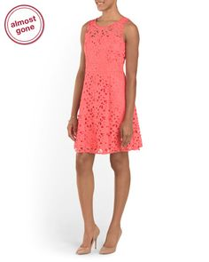 Crochet+Fit+And+Flare+Dress