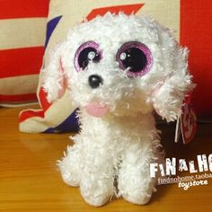 378a9f21928 collection TY Beanie boos 2015 new TY big eyes white dog 15cm classical  baby gift Ty