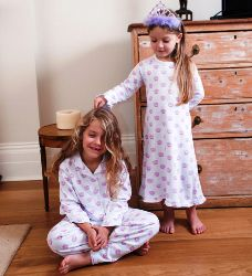 Pixie Dixie Nightdress with Princesses Crown Kids Pjs, Girls Pajamas, Childrens Gifts, Cotton Pyjamas, Button Down Collar, Princesses, Pixie, Baby Gifts, Shirt Designs
