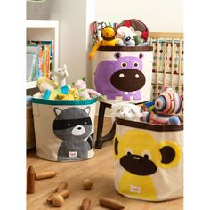 This 3 Sprouts Raccoon Storage Bin is ideal in the nursery or children's bedroom for storing toys or clothes, or use as a laundry basket. The 3 Sprouts Storage Bin is made from cotton canvas with a polyester felt applique. Toy Storage Bags, Kids Storage, Storage Baskets, Storage Ideas, Storage Solutions, Storage Caddy, Laundry Baskets, Nursery Storage, Nursery Decor