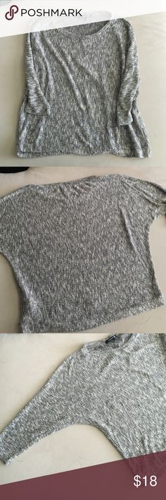 Forever 21 sweater Forever 21 marble sweater! Brown, creamy, gray tones. Light weight and soft. Worn once and washed. Minor pulls on the sweater. Perfect with shorts for the summer or layered in the fall! Forever 21 Sweaters Crew & Scoop Necks