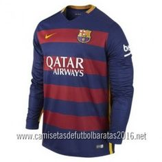 Camiseta de fútbol baratas manga larga Barcelona 2016 1ª equipación €21.99