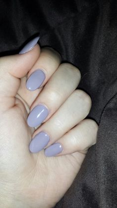 • lilac almond nails •
