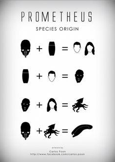 Prometheus Species Origin by Carlos Poon