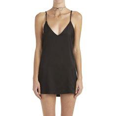 Zillah Slip Dress - Black