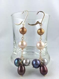 Beautiful and Elegance 5 Shades of Pearl Earrings