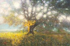 Tree of Light. Landscape Painting, realism, Impressionism,  Artist: Camille Barnes - Giclee' on canvas prints available