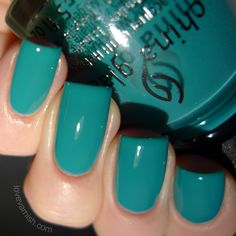 China Glaze Road Trip My Way Or The Highway China Glaze My Way Or The Highway is described as a turquoise creme. I think there is another China Glaze shade like this but with shimmer. It feels very familiar to me. The formula is again that jelly/crelly like, and while I thought this would the the sheerest of the bunch when putting on the first coat, the second coat provided all the coverage I wanted! I did wrap my tips twice.