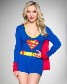 Supergirl Junior Fitted Hooded Romper