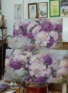 Oleg Buyko Acrylic Flowers, Oil Painting Flowers, Abstract Flowers, Watercolor Flowers, Watercolor Art, Art Floral, Flower Images, Flower Art, Big Wall Art