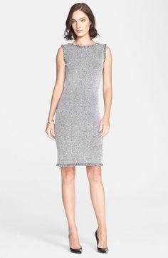 St. John Collection Mini Eyelash Tweed Sheath Dress available at #Nordstrom