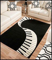 music themed girls bedroom   ... keys design is sure to make it a popular choice for music lovers: