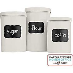 Martha Stewart Home Office™ With Avery™ Black Chalkboard Labels 72415, 2-1/2in. x 3-3/4in., 12/Pack