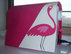 Pink Flamingo Sewing Machine Cover