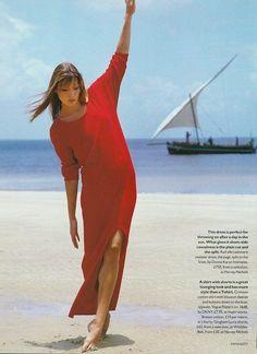 Carla Bruni Vogue UK, mid 90s
