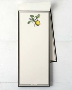 This Lemon notepad is designed and crafted by our talented in-house design team. The notepad is ideal for jotting and organizing your ideas, making lists, recording recipes, and light correspondence. Lemon, Stationery, House Design, How To Make, Cook, Paper Mill, Stationery Set, Office Supplies, Architecture Design