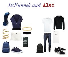 """""""ItsFunneh and Alec"""" by rosebelladonna ❤ liked on Polyvore featuring Yves Saint Laurent, T By Alexander Wang, Chanel, Jil Sander, Kate Spade, L. Erickson, Palm Angels, Neil Barrett, Jack & Jones and adidas Originals"""
