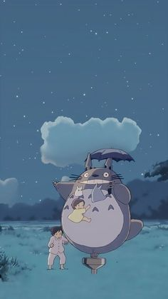 Ghibli my neighbor totoro wallpaper Art Studio Ghibli, Studio Ghibli Films, Cartoon Wallpaper, Kawaii Wallpaper, Disney Wallpaper, Trendy Wallpaper, Samsung Wallpapers, Animes Wallpapers, Cute Wallpapers