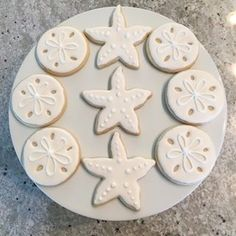 Starfish and Sand dollar Royal Iced Cookies. Baking your Ideas To Life ( Girls Pirate Parties, Pirate Party, Little Mermaid Parties, The Little Mermaid, Sand Dollar Cookies, Food C, Summer Cookies, Iced Cookies, Cookie Ideas