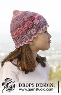 """Arwen - Crochet DROPS hat in """"Big Delight"""". - Free pattern by DROPS Design"""