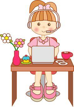 clipart imagens decoupage menina (1)