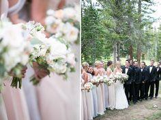 Classy Bridal Party at Ten Mile Station Breckenridge Colorado. Amy Caroline Photography.