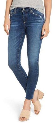 AG Jeans Women's The Legging Raw Hem Ankle Skinny Jeans