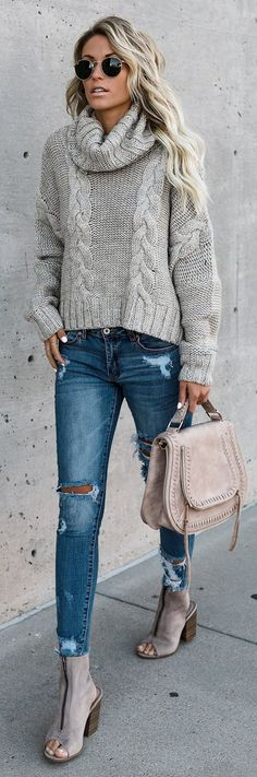Casual Solid Color Sweater