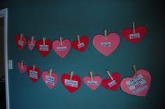 Valentines garland to teach about love (using 1Corinthians13)