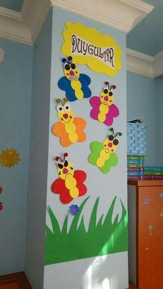 Fun ways to teach Kids by these Crafts - OverallCrafts Preschool Classroom Decor, Preschool Boards, Preschool Themes, Preschool Activities, Class Decoration, School Decorations, Birthday Charts, Art N Craft, Kids Education