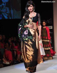 Chitrangada Singh in Gaurang Shah Sari at LFW Summer Resort 2013