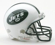 New York Jets Replica Mini Helmet w/ Z2B Face Mask