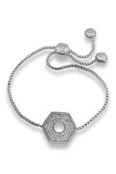 Elegant CZ Nut Drawstring Bracelet by Liza Schwartz on @HauteLook