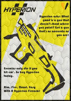 Borderlands Gun Brand Poster - Hyperion by FALLENV3GAS on DeviantArt