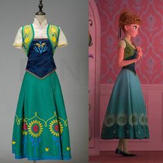 Frozen Fever Cosplay Anna Dress Costumes