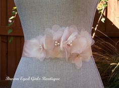 Vera Wang Inspired Blush Wedding Sash by browneyedgirlsboutiq, $85.00