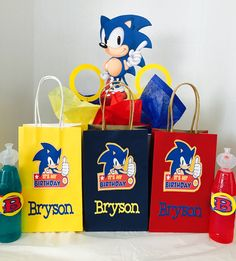 Sonic the Hedgehog Party Favor Bags I Decorated